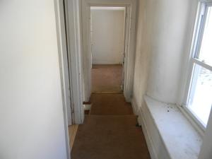 A dingy hallway.