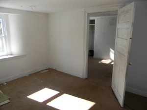 """The """"Master"""" Bedroom was two small separate rooms.  We pulled down the wall."""