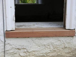 Red Cedar Window Sills