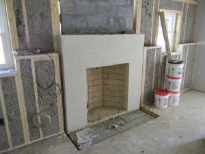 Which chimney will Santa come down -- the new fireplace or the old fireplace
