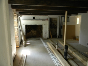 The fireplace - before renovations
