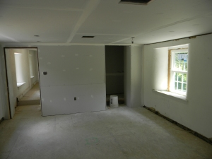 Master Bedroom with a real closet -- where there was once a stone wall.