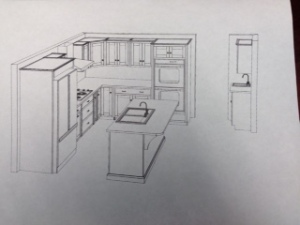 The Kitchen -- small but functional