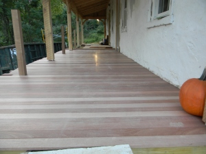 Mahogany Porch Boards