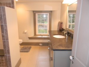 The Master Bath - no comparison to what it looked like before!
